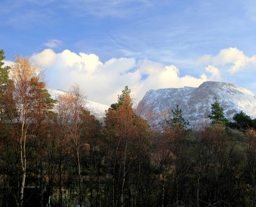 Woodside's view of Ben Nevis just outside Fort William