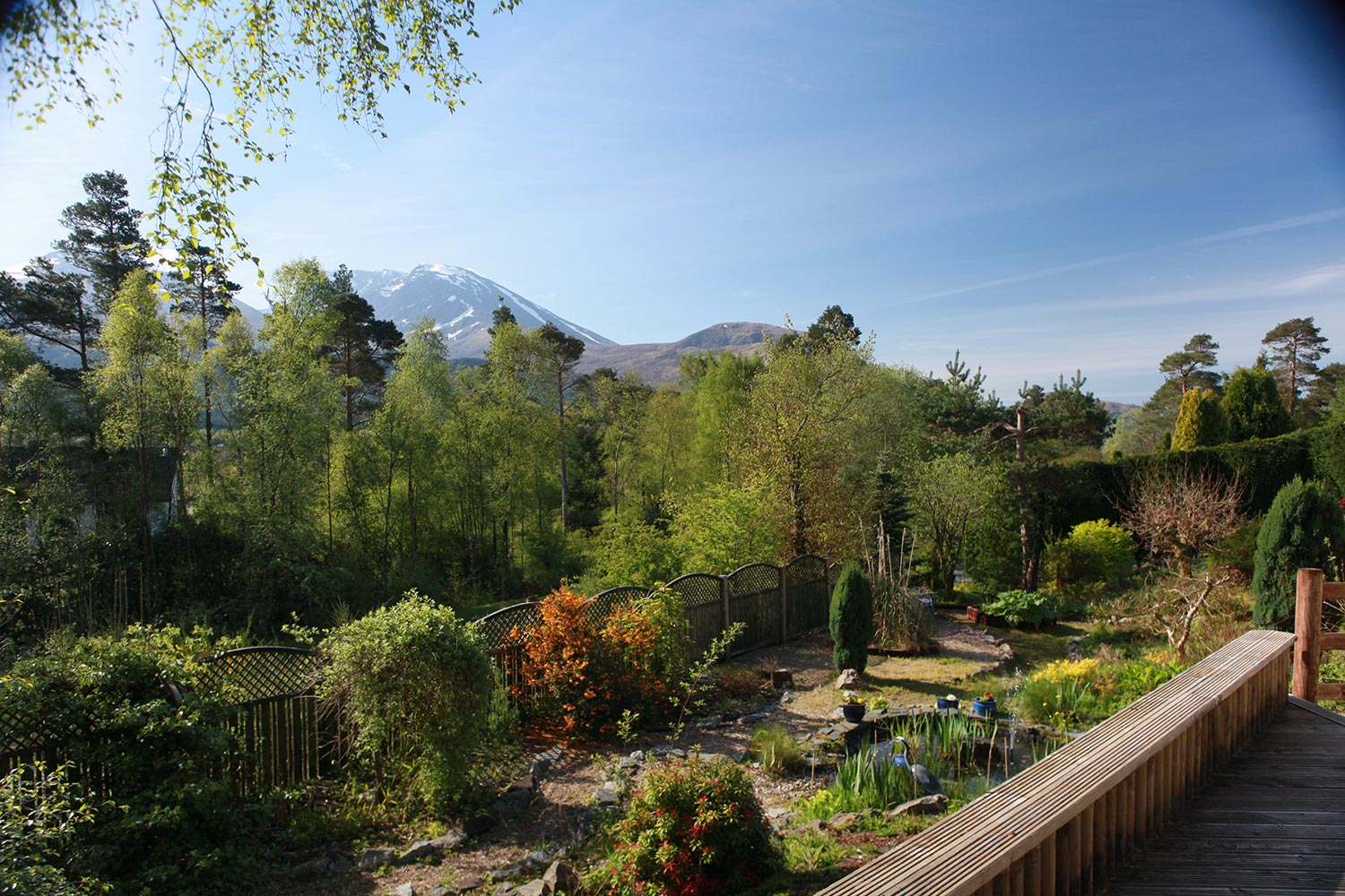 The stunning view of Ben Nevis from our countryside Fort William B&B